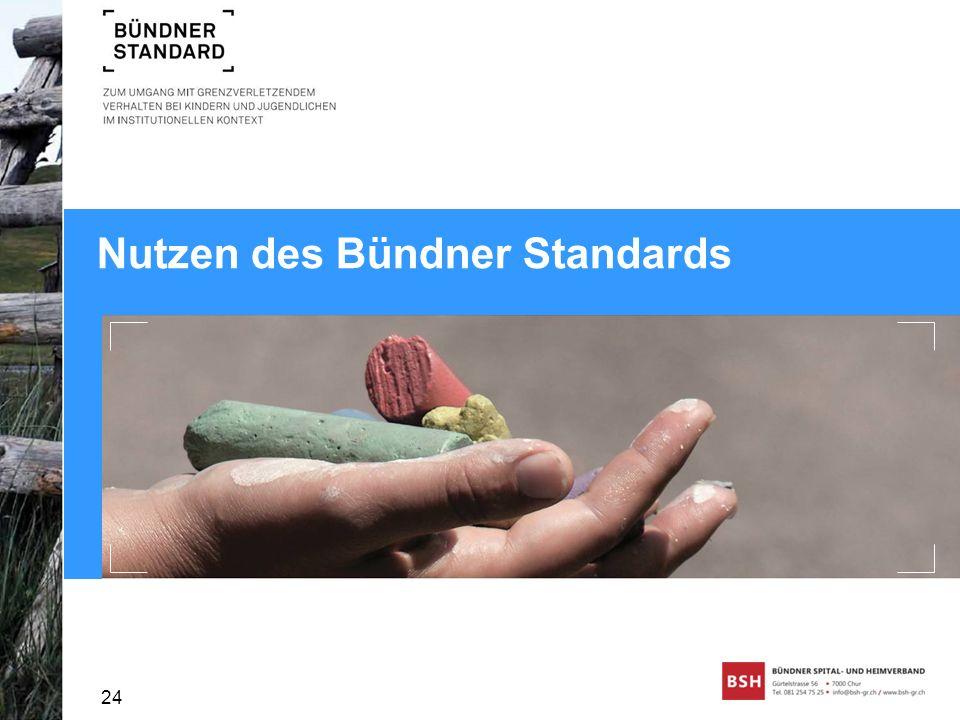 Nutzen des Bündner Standards 24