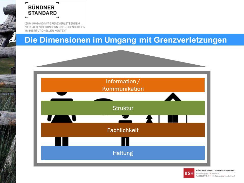 Die Dimensionen im Umgang mit Grenzverletzungen Haltung Fachlichkeit Struktur Information / Kommunikation