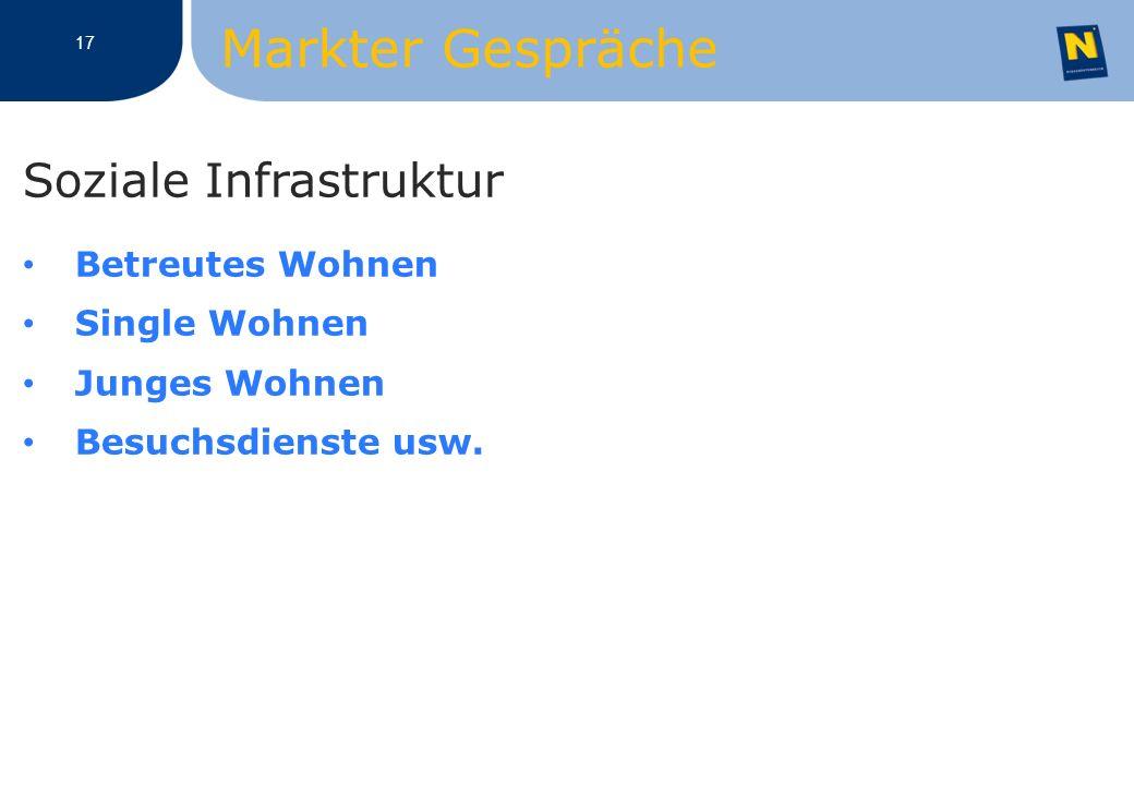 Soziale Infrastruktur Betreutes Wohnen Single Wohnen Junges Wohnen Besuchsdienste usw.