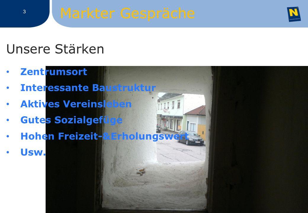 3 Unsere Stärken Zentrumsort Interessante Baustruktur Aktives Vereinsleben Gutes Sozialgefüge Hohen Freizeit-&Erholungswert Usw.