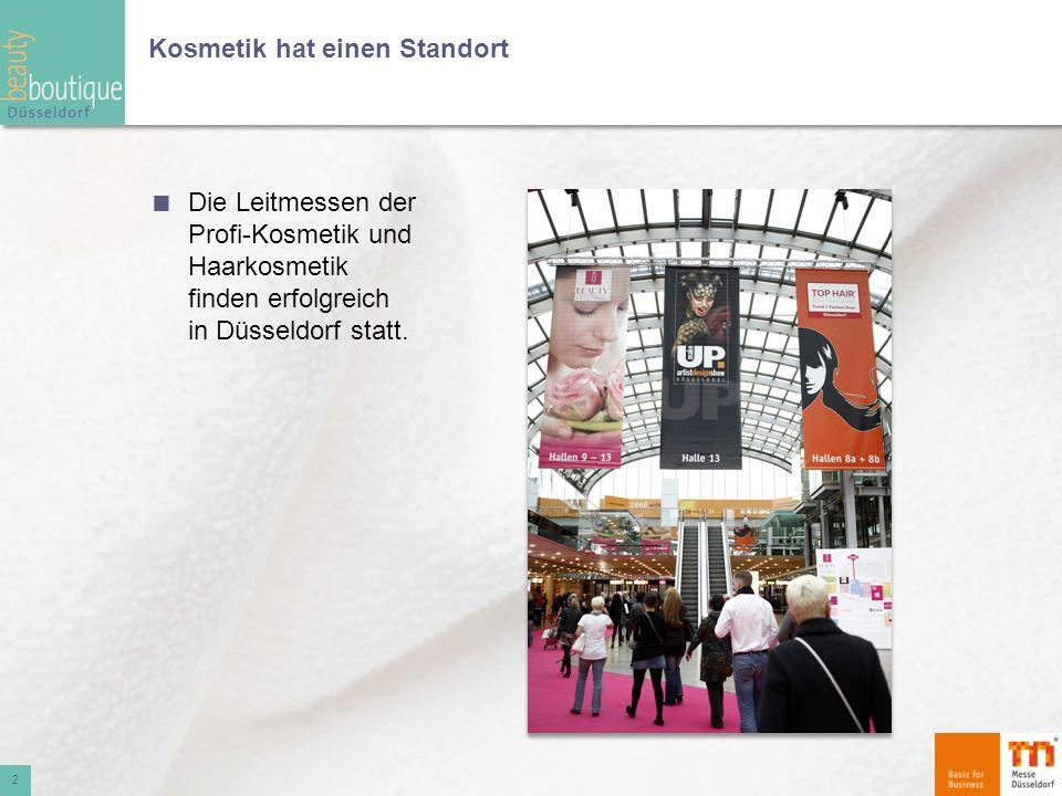 Kosmetik hat einen Standort Die Leitmessen der Profi-Kosmetik und Haarkosmetik finden erfolgreich in Düsseldorf statt. 2