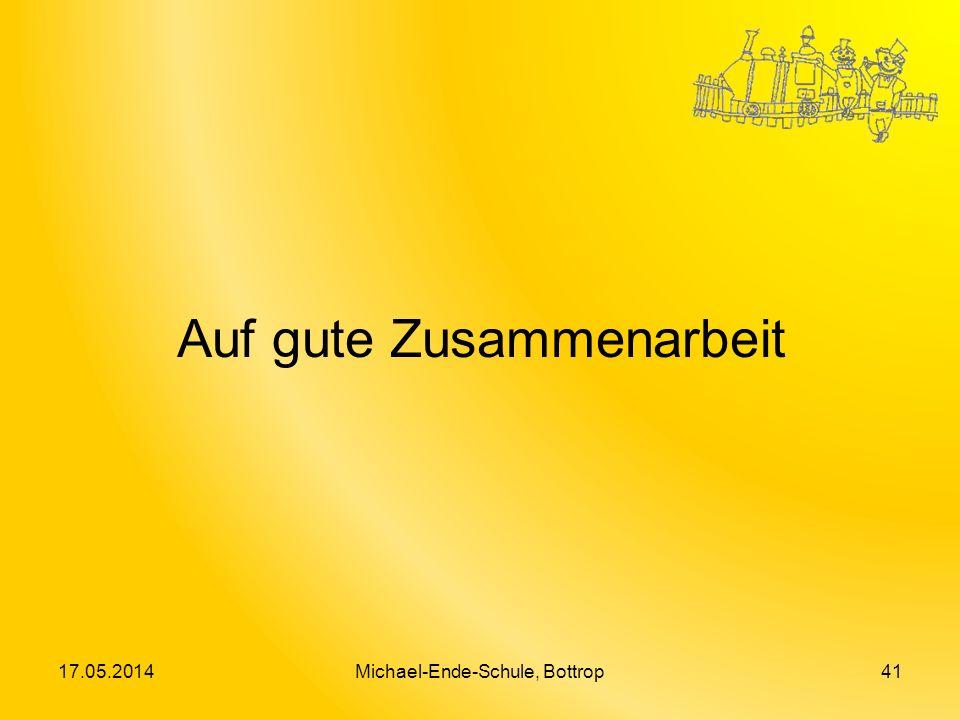 Auf gute Zusammenarbeit 17.05.2014Michael-Ende-Schule, Bottrop41
