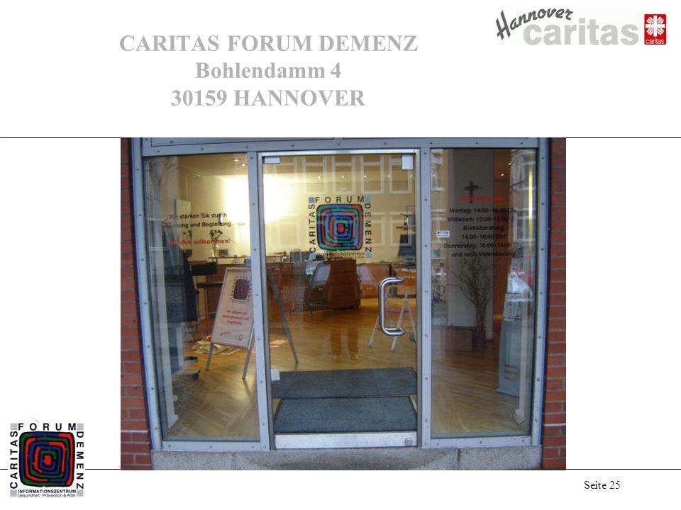 Seite 25 CARITAS FORUM DEMENZ Bohlendamm 4 30159 HANNOVER