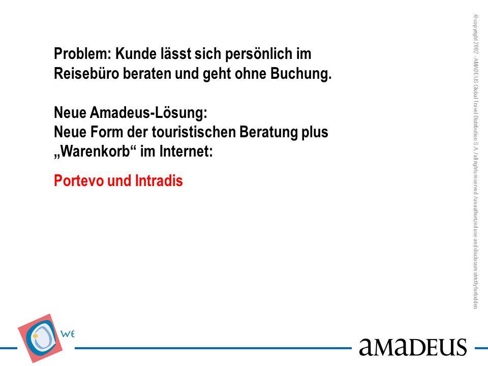 Problem: Erträge im Business Travel unter Druck Neue Amadeus-Lösungen: Reporter; TAF-Manager, Booking Engines