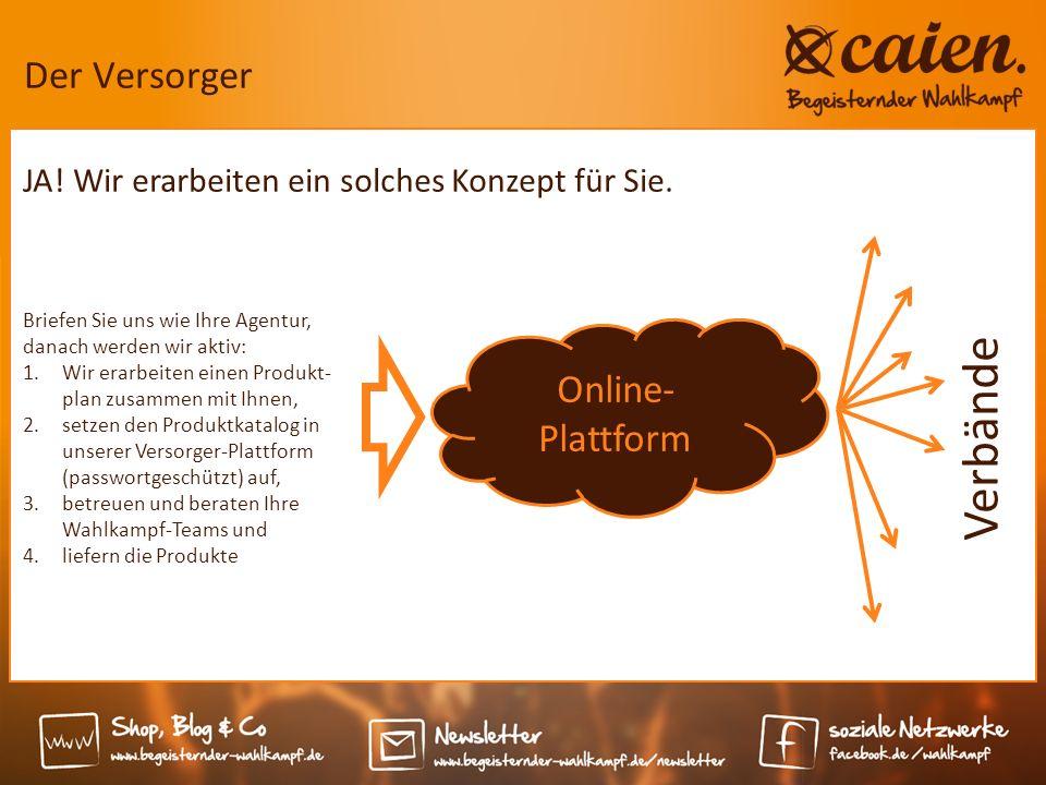 Der Versorger Online- Plattform Briefen Sie uns wie Ihre Agentur, danach werden wir aktiv: 1.Wir erarbeiten einen Produkt- plan zusammen mit Ihnen, 2.