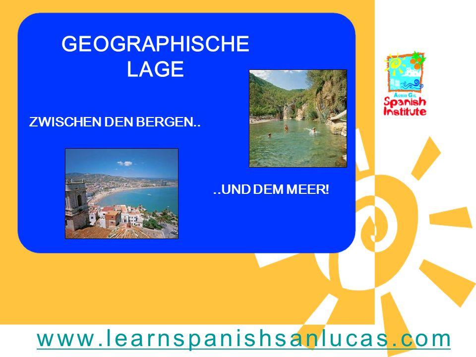 GEOGRAPHISCHE LAGE ZWISCHEN DEN BERGEN....UND DEM MEER! www.learnspanishsanlucas.com