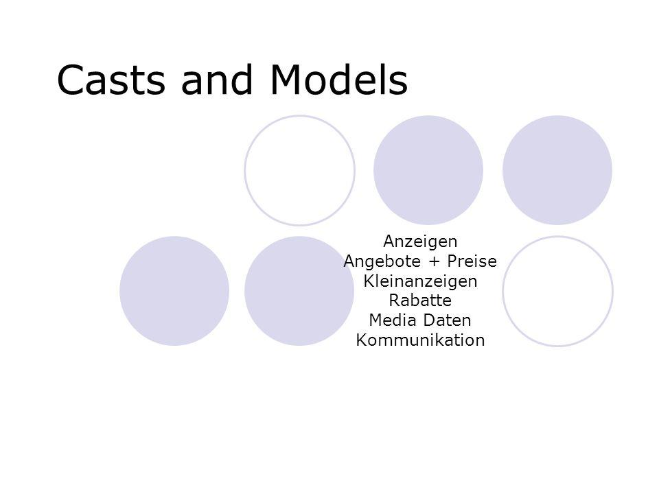 Casts and Models Anzeigen Angebote + Preise Kleinanzeigen Rabatte Media Daten Kommunikation