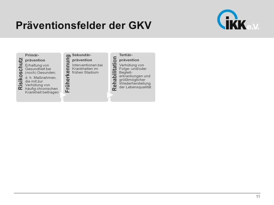 Präventionsfelder der GKV 11