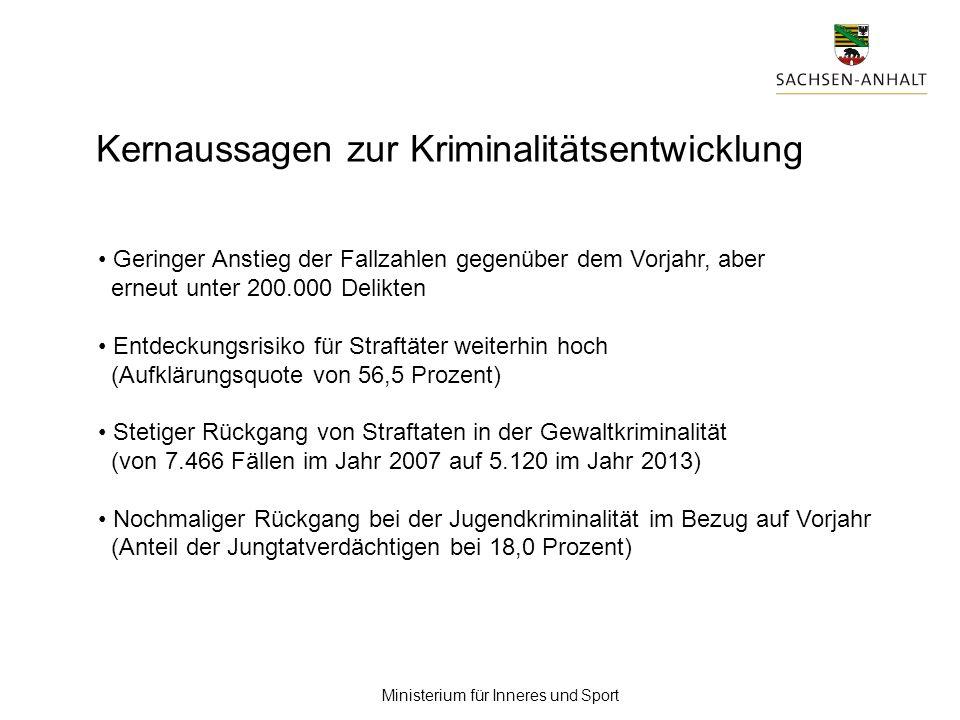 Impressum : Titel der PowerPoint-Präsentation : Vorstellung der PKS 2013 Ausführender :Referat 23 Dienststelle :Ministerium für Inneres und Sport Anlass :Pressekonferenz am 06.03.2014