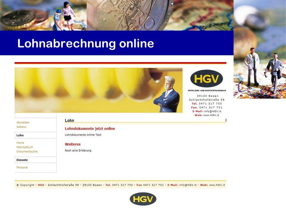 Lohnabrechnung online