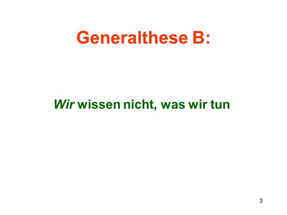 4 Generalthese C: Eine Mehrheit von Deutschlands Bürgern, Familien, Politikern und Managern verspielt die Zukunft unserer Kinder und Enkel, kurz: die Zukunft Deutschlands.