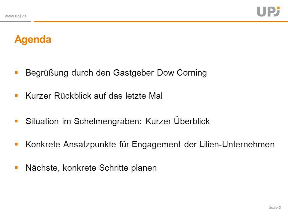 Amt für Soziale Arbeit Seite 3 www.upj.de Initiative und Einladung durch RA Cäsar-Preller für ein gemeinsames Engagement der Lilien-Unternehmen: gemeinsam mehr bewegen Rege Teilnahme (11 Unternehmen) Input: Wo besteht besonderer Bedarf für Unternehmens- engagement in Wiesbaden.