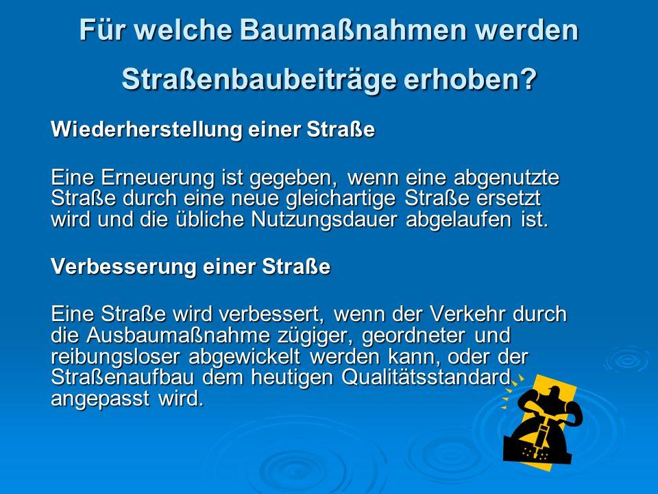 Bauverwaltung - Dezember 2009 Rechtsgrundlagen Beitrag 1.