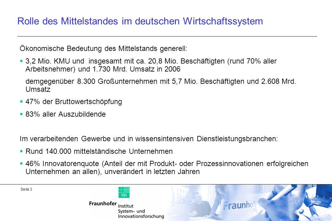 Seite 4 Anteil der einzelnen Beschäftigungsklassen an den FuE-Gesamt- aufwendungen der Wirtschaft 2003 Quelle: Stifterverband Wissenschaftsstatistik: FuE in der Wirtschaft