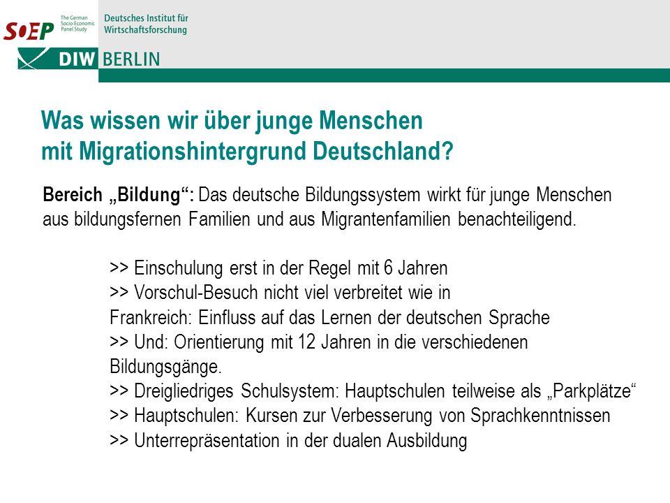 Was wissen wir über junge Menschen mit Migrationshintergrund Deutschland.