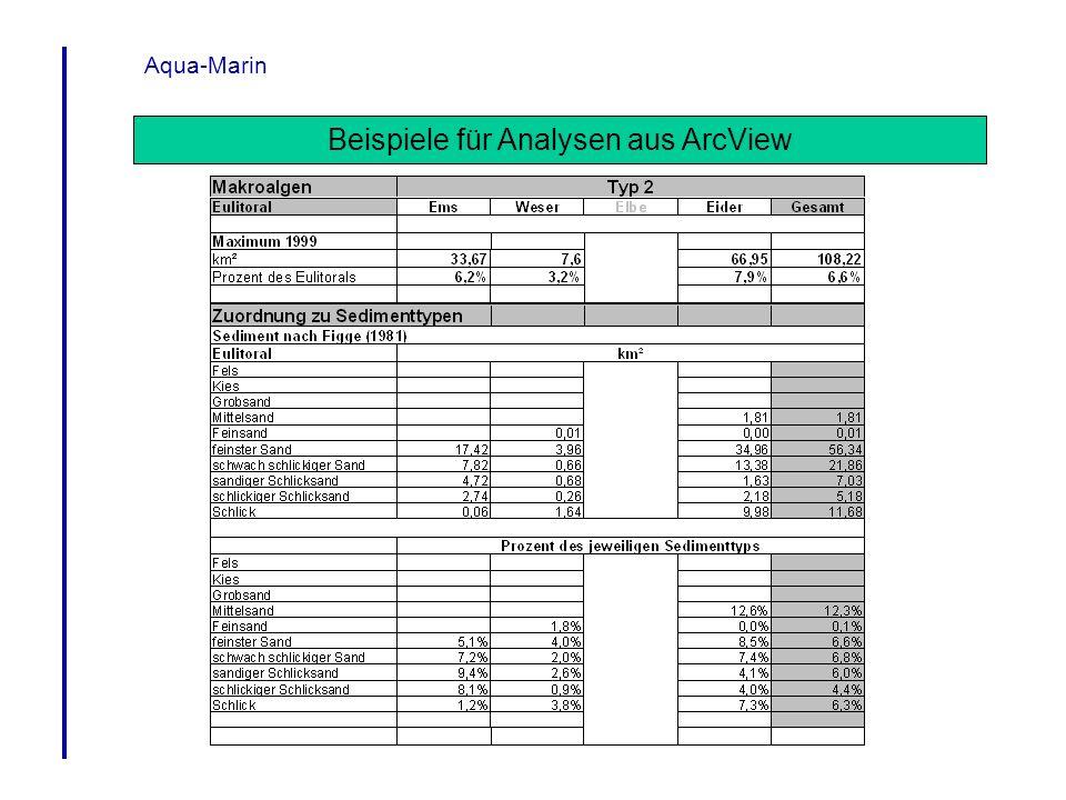 Aqua-Marin Beispiele für Analysen aus ArcView