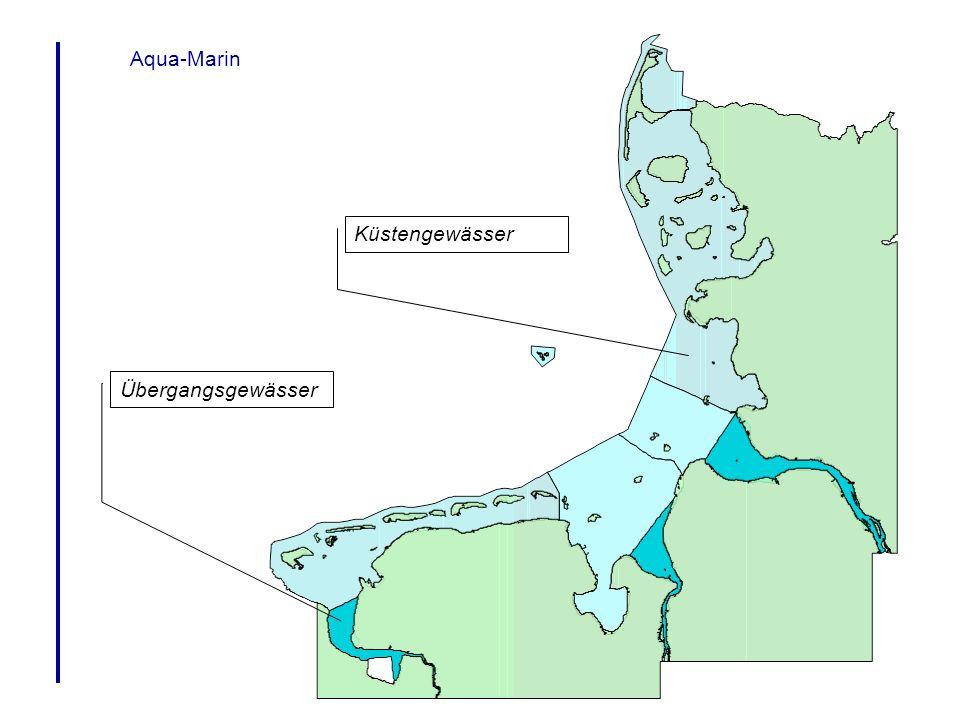 Aqua-Marin Beispiele für Analysen aus ArcView Wie groß ist die Makroalgenbedeckung in Gewässertyp 2 .