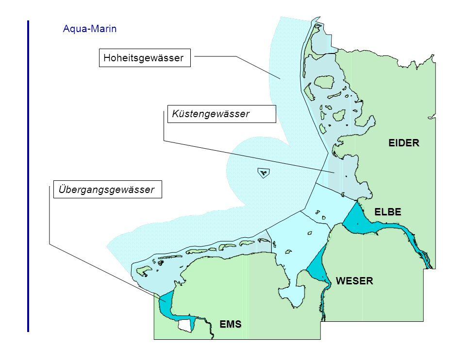 Aqua-Marin Hoheitsgewässer Küstengewässer Übergangsgewässer EMS WESER ELBE EIDER