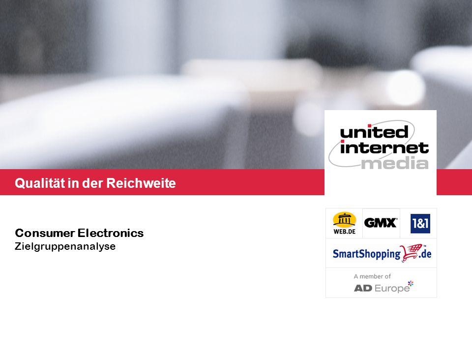 Qualität in der Reichweite Consumer Electronics Zielgruppenanalyse