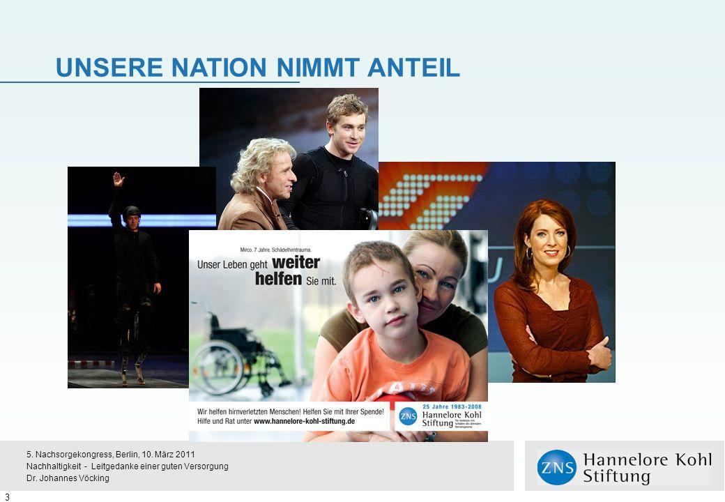 UNSERE NATION NIMMT ANTEIL 3 5.Nachsorgekongress, Berlin, 10.