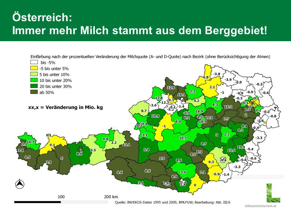 Der EU Vergleich zeigt deutlich: kleine Strukturen in Österreich Quelle: EK Fragebogen, Darstellung: BMLFUW Abt.