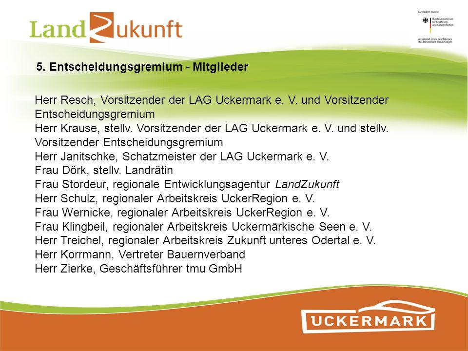 Herr Resch, Vorsitzender der LAG Uckermark e. V. und Vorsitzender Entscheidungsgremium Herr Krause, stellv. Vorsitzender der LAG Uckermark e. V. und s