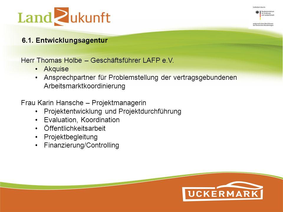 Herr Thomas Holbe – Geschäftsführer LAFP e.V. Akquise Ansprechpartner für Problemstellung der vertragsgebundenen Arbeitsmarktkoordinierung Frau Karin