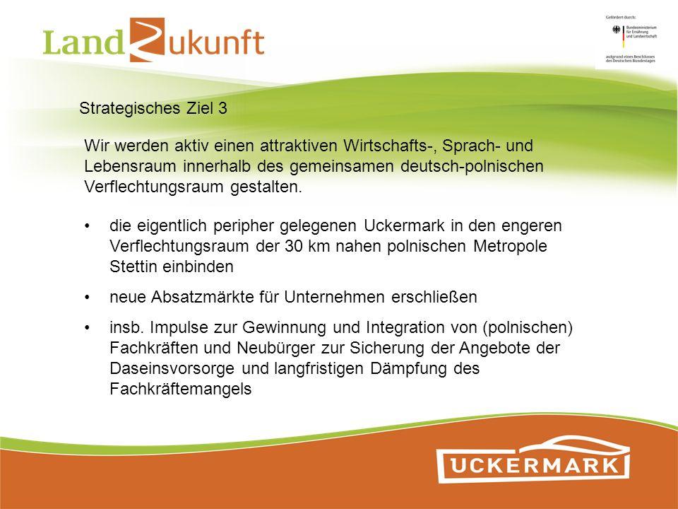 Strategisches Ziel 3 Wir werden aktiv einen attraktiven Wirtschafts-, Sprach- und Lebensraum innerhalb des gemeinsamen deutsch-polnischen Verflechtung