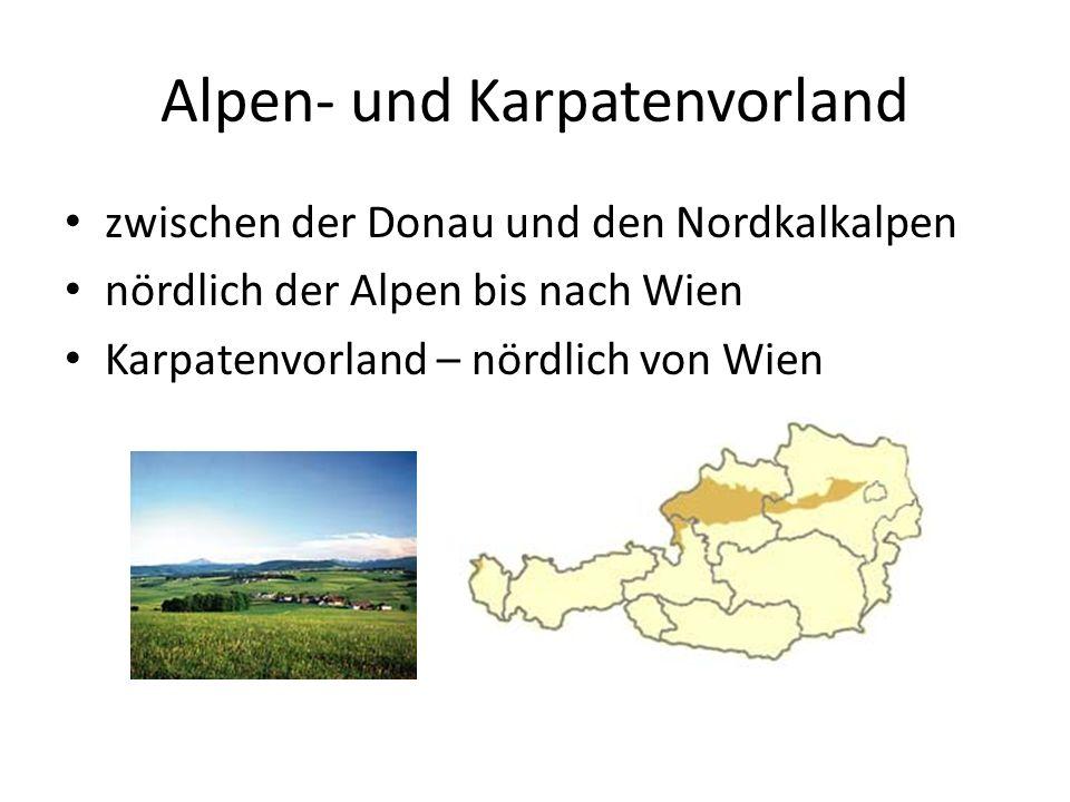 Granit- und Gneishochland im Norden Österreichs Anteil an der Böhmischen Masse Donau