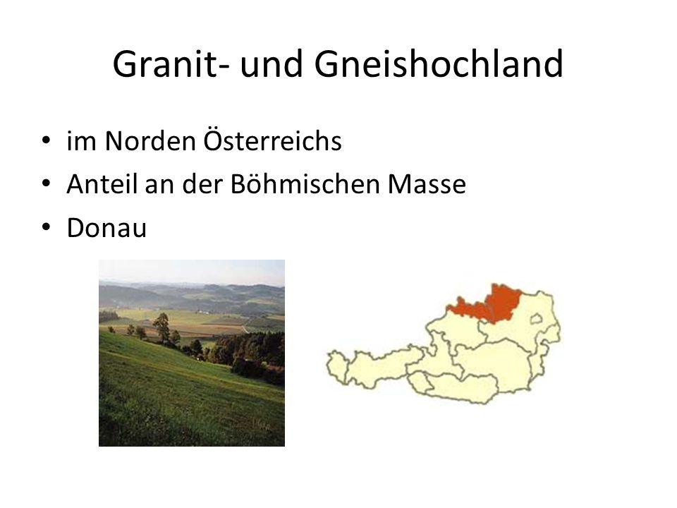 Alpenvorland im Südosten Anteil am Pannonischen Tiefland