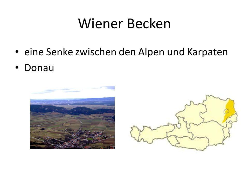 Wiener Becken eine Senke zwischen den Alpen und Karpaten Donau