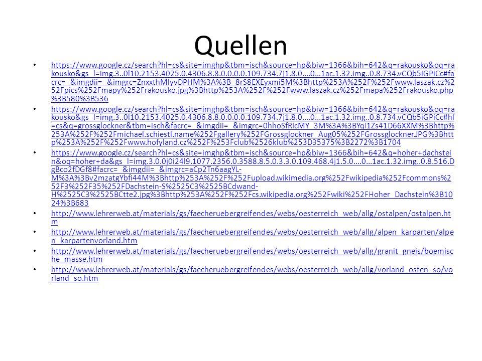 Quellen https://www.google.cz/search?hl=cs&site=imghp&tbm=isch&source=hp&biw=1366&bih=642&q=rakousko&oq=ra kousko&gs_l=img.3..0l10.2153.4025.0.4306.8.