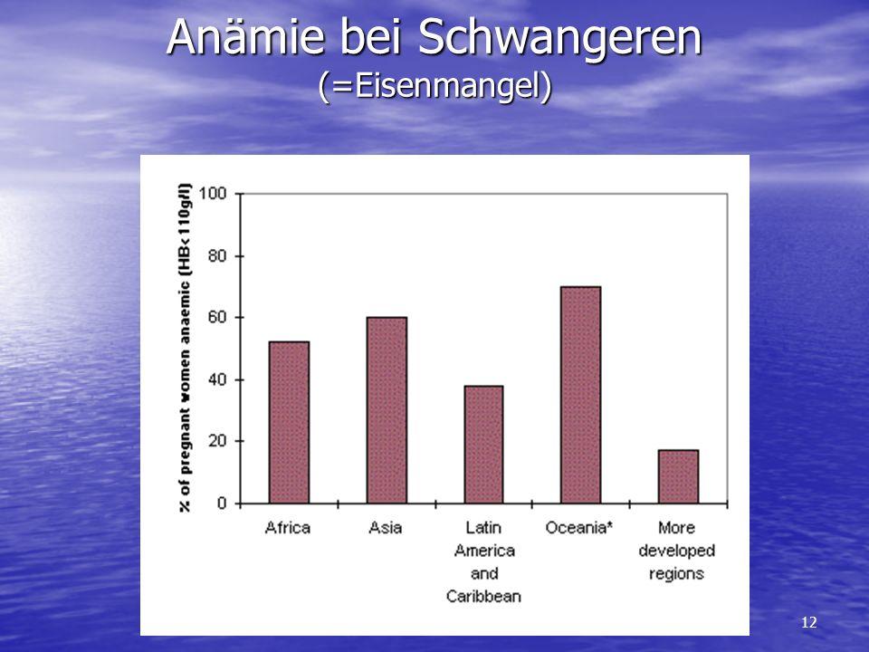 12 Anämie bei Schwangeren (=Eisenmangel)