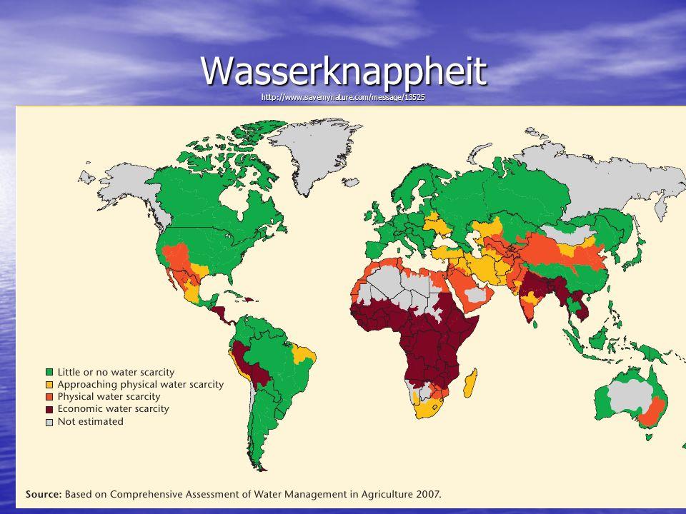 Wasserknappheit http://www.savemynature.com/message/13525 Medizin und Wasser
