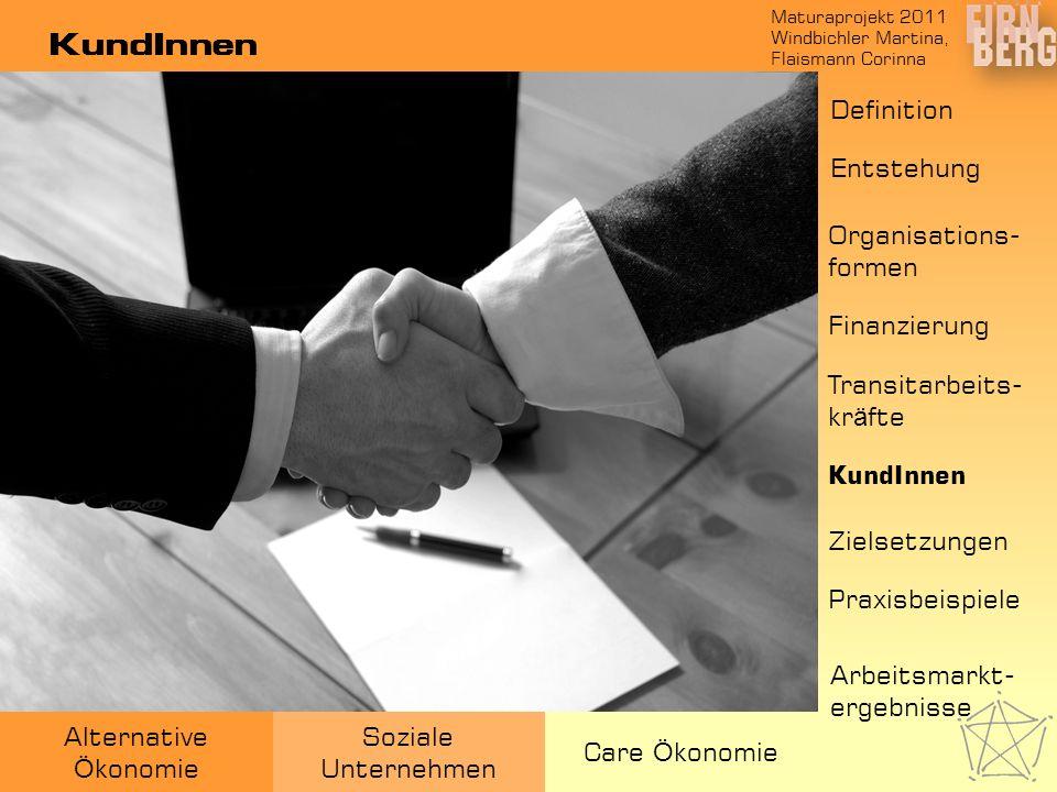 Maturaprojekt 2011 Windbichler Martina, Flaismann Corinna Alternative Ö konomie Soziale Unternehmen Care Ö konomie KundInnen Entstehung Organisations-