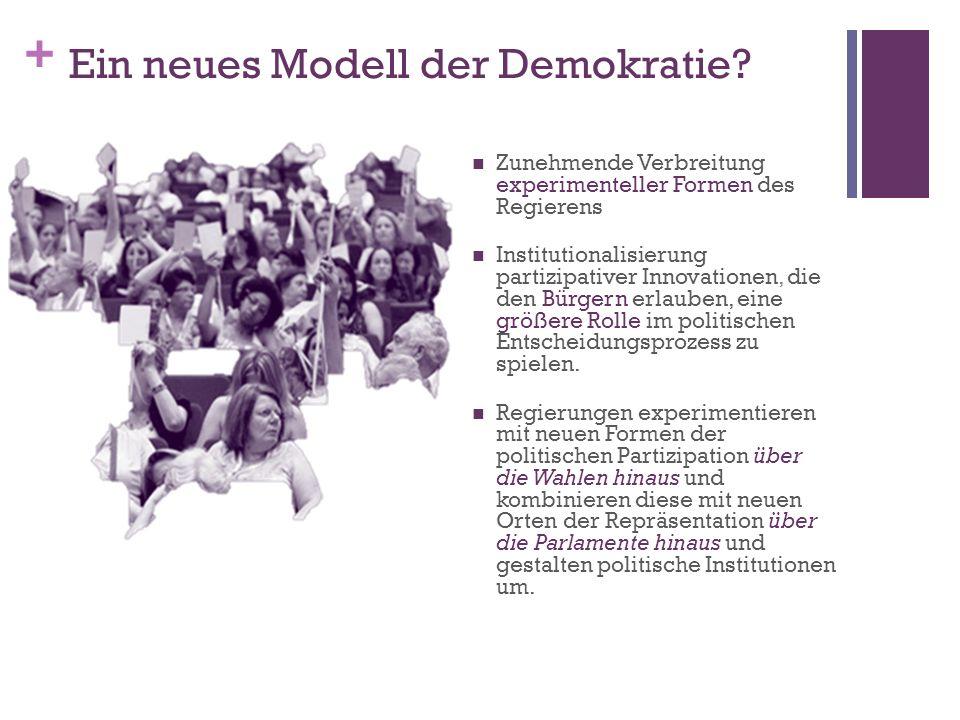+ Ein neues Modell der Demokratie.