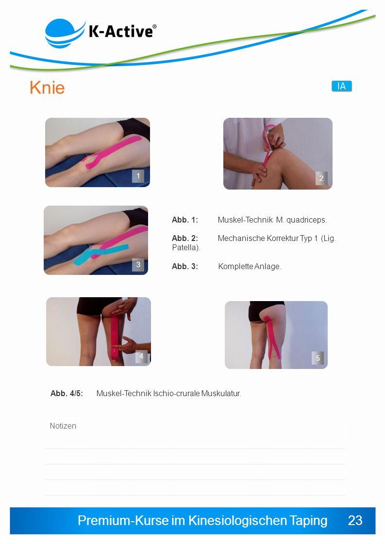 Premium-Kurse im Kinesiologischen Taping Abb.4/5:Muskel-Technik Ischio-crurale Muskulatur.