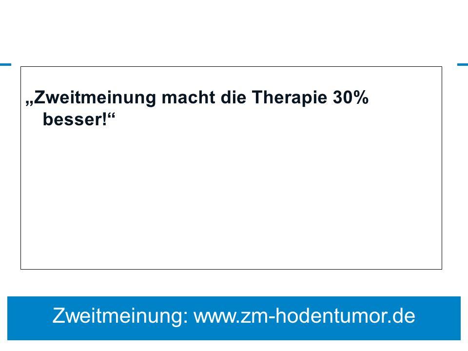 Zweitmeinung macht die Therapie 30% besser! Zweitmeinung: www.zm-hodentumor.de