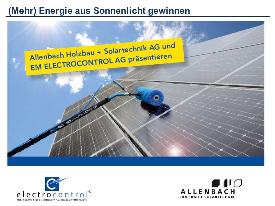 Leistung und Leistungskontrolle Leistung in kWp Diese Angabe zeigt, welche Leistung die Photovoltaikanlage im Maximum erbringen kann.