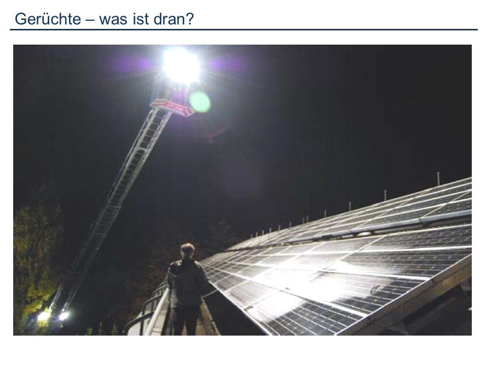 Fazit: Mondlicht, Scheinwerfer oder Ähnliches erzeugen keine gefährlichen Energien!