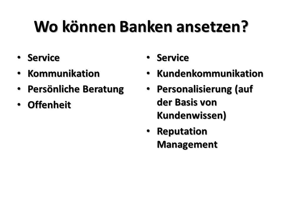 Wo können Banken ansetzen.