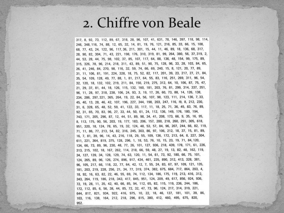2. Chiffre von Beale