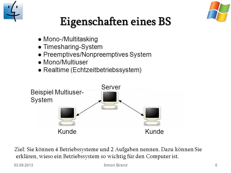 Ziel: Sie können 4 Betriebssysteme und 2 Aufgaben nennen.