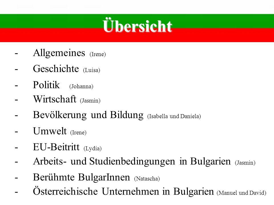 Geschichte -Antike Slawen siedeln sich an -Ca.600 Altes Großbulgarisches Reich -7.