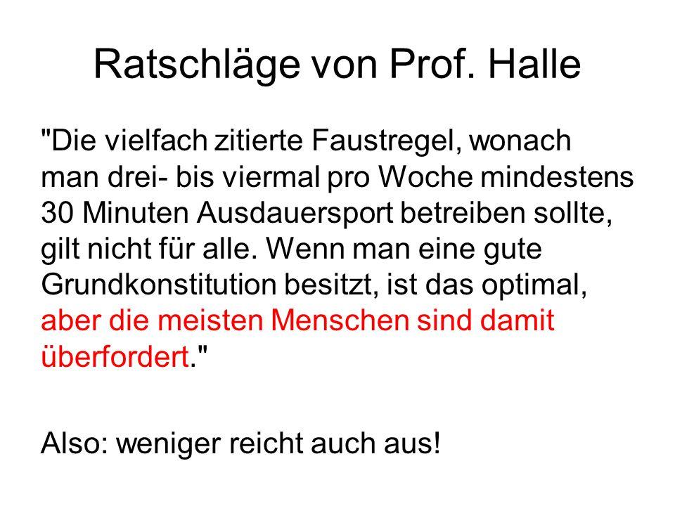 Ratschläge von Prof.