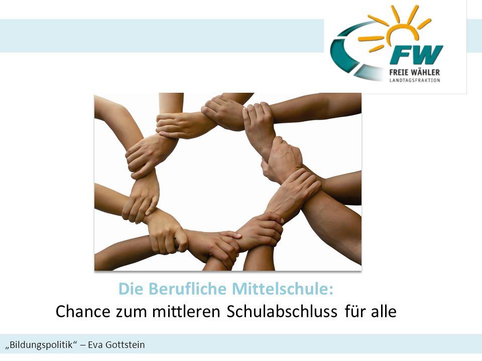 Die Berufliche Mittelschule: Chance zum mittleren Schulabschluss für alle Bildungspolitik – Eva Gottstein
