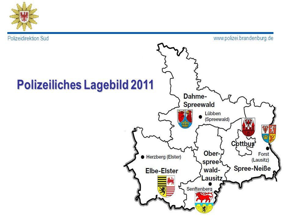 www.polizei.brandenburg.de Polizeidirektion Süd Allgemeines PD Süd Bevölkerung ca.