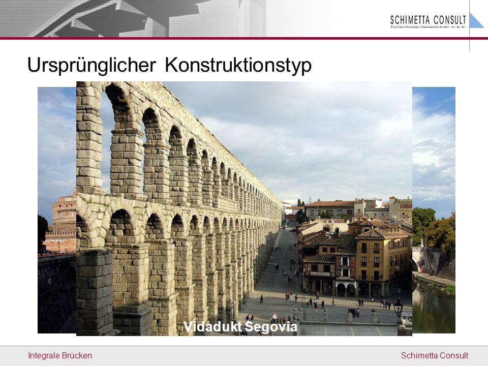 Schimetta ConsultIntegrale Brücken Internationale Richtlinien Richtlinien für Anwendung und konstruktiven Durchbildung Teilweise sehr unterschiedliche Empfehlungen Begründungen teilweise nicht nachvollziehbar Richtlinien fallweise inkonsistent in Argumentation Unterschiedliche Normenlage und Randbedingungen keine direkte Übertragung auf Österreich möglich