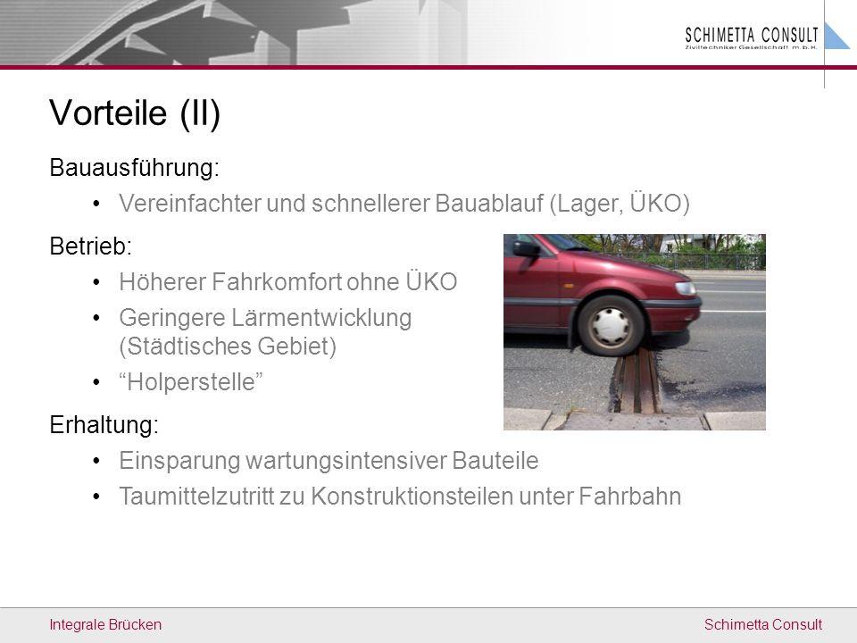 Schimetta ConsultIntegrale Brücken Stützen Höhe min Lichte Höhe ca. 5m Studienobjekt - Grundsystem