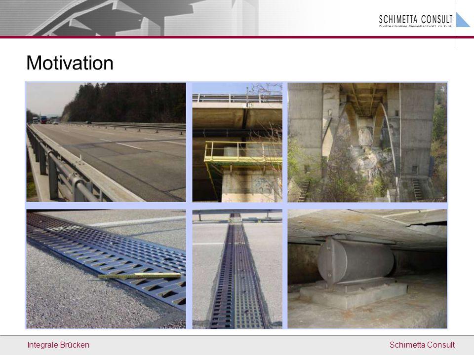 Schimetta Consult Messung Bauwerkstemperatur (Grundlage) Untersuchung des Erddrucks Längenänderung des Tragwerks (Laser) Automatische Datensicherung Datenübertragung Internet Mühlbrücke Integral Bridges Bauherr: Planer: